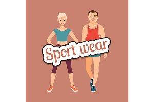 Fitness fashion couple in sport wear