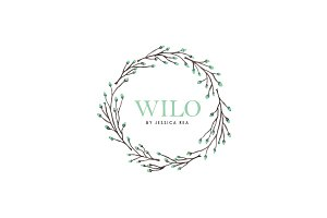 Watercolor Wreath Logo Template