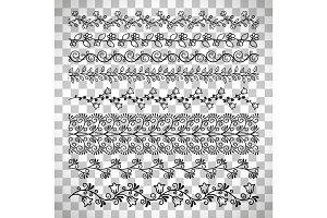 Floral line border set