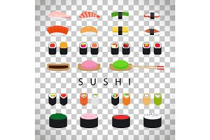 Japanese food sushi set