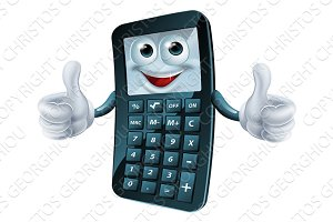 Cartoon Calculator Man