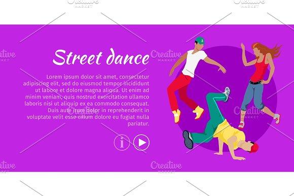 Street Dance Concept Flat Style Vector Web Banner