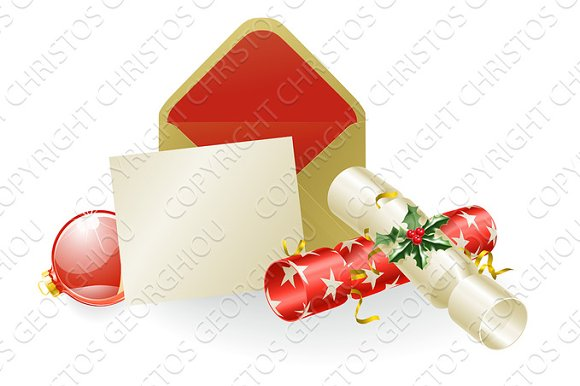 Christmas message concept