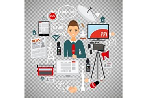 News and journalist concept
