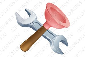 Crossed plunger and spanner tools