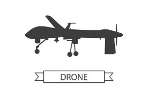 Drone Icon Isolated Unmanned Aerial Vehicle