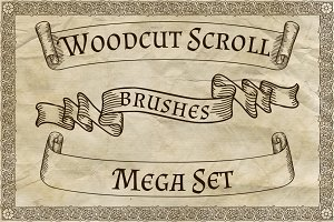 Woodcut Scroll Brushes Mega Set