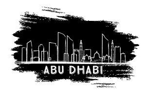 Abu Dhabi Skyline Silhouette.