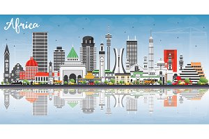 Africa Skyline with Famous Landmarks