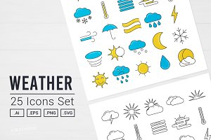 Weather Vector Icon Set