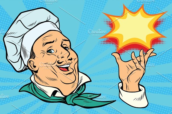 Chef Holding Hand Gesture
