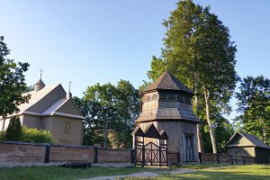 Paluse wooden church in the Aukstaitija National Park in Lithuania.