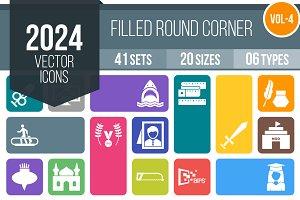 2024 Vector Round Corner Icons (V4)