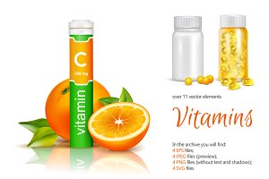Vitamins Realistic Set