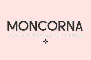 Moncorna Futuristic Sans Serif Font