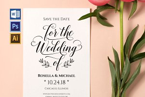 Save the Date Template Wpc214