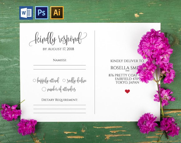 RSVP Cards Template Wpc215