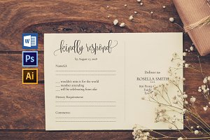 RSVP cards template Wpc216