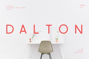 Dalton | A Sleek Rounded Font Family