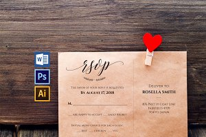 RSVP cards template Wpc217