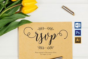 RSVP cards template Wpc218