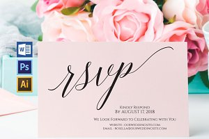 RSVP cards template Wpc219