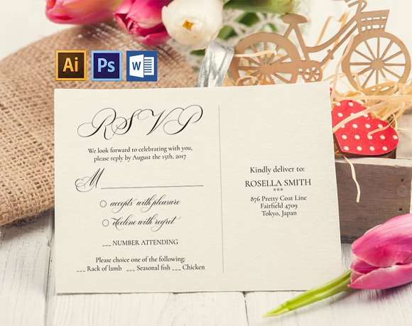 RSVP Cards Template Wpc220