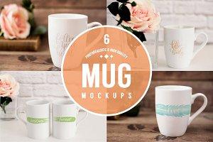 6 Realistic Mug Mockups