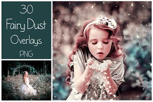 30 Fairy Dust PNG Overlays