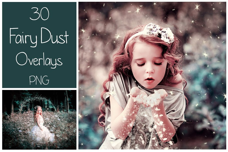30 Fairy Dust PNG Overlays ~ Textures ~ Creative Market