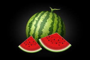 Realistic vector watermelon isolated