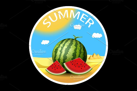 Summer vector sticker concept