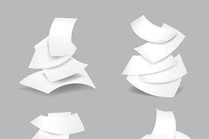 Falling paper sheets