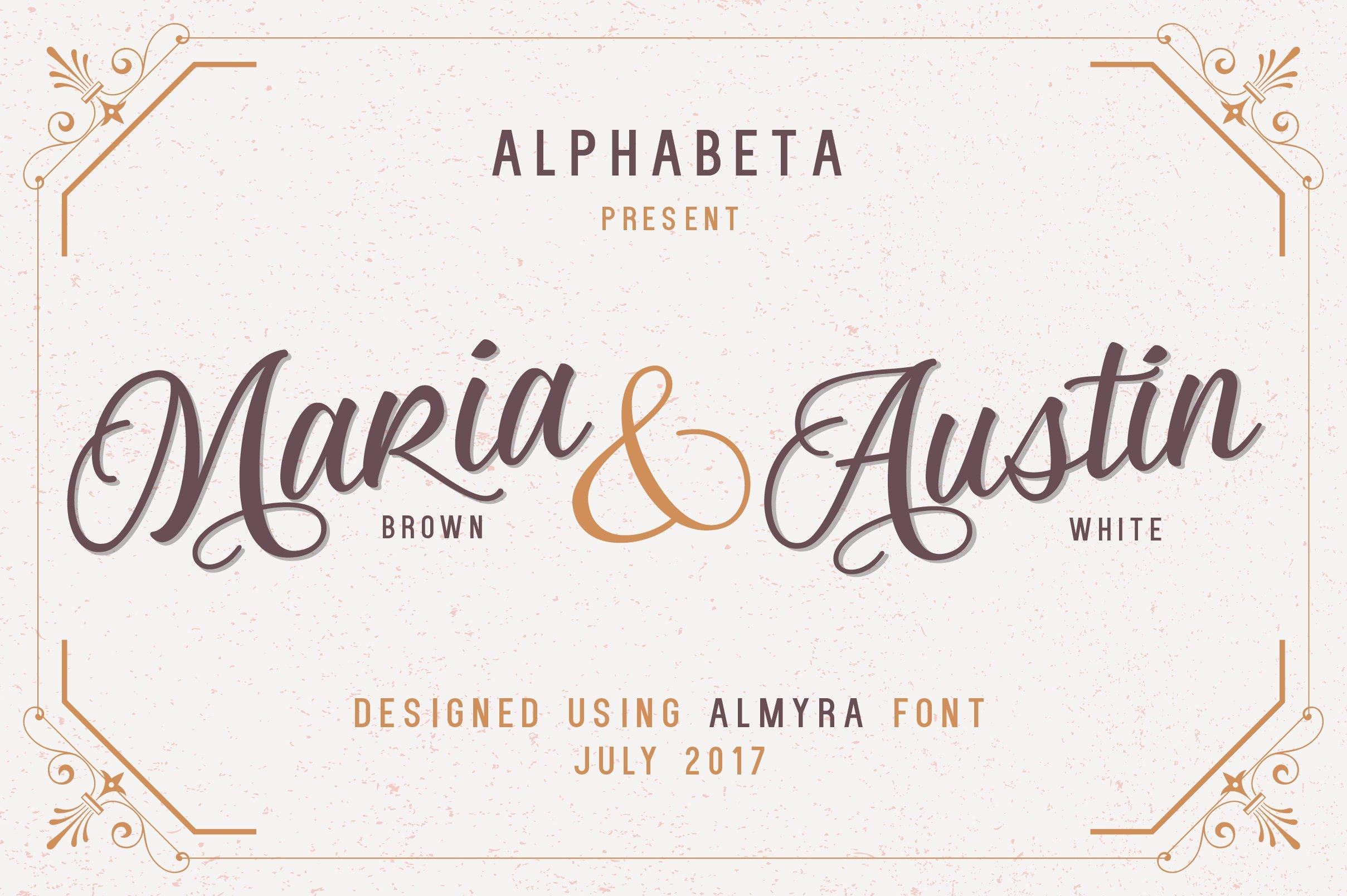 Almyra Script Script Fonts Creative Market