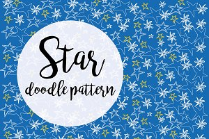 Star doodle pattern
