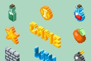 Pixel art game icons