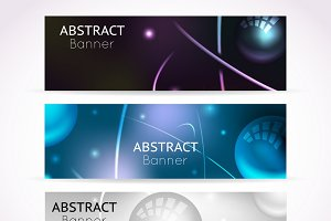 Nuclear atom banners