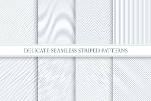 Delicate striped seamless patterns.