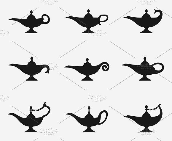 Aladdin Lamp Icons