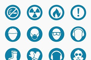 Occupational health icons
