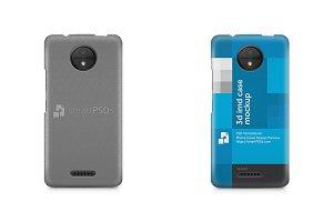 Moto C 3d IMD Mobile Case Mockup