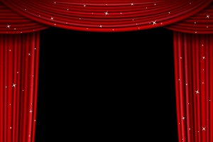Glittering red curtain