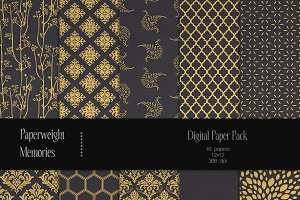 Patterned Paper - Gilded Dreams