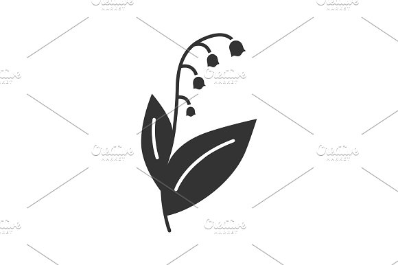 Lily Of The Valley Glyph Icon