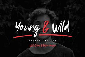 NEW! Young & Wild Brush Font