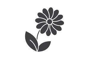 Camomile glyph icon
