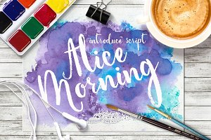 Alice Morning script + watercolor