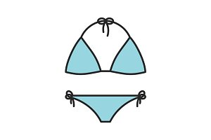 Swimsuit color icon