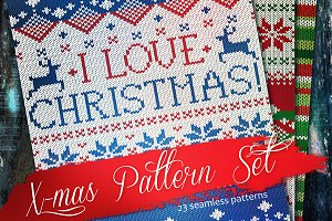 Knitted Cristmas Pattern Set