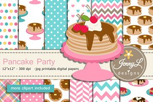 Pancake Digital Papers & Clipart
